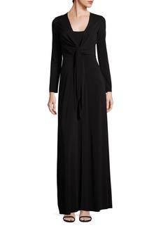 Salina Tie-Front Gown