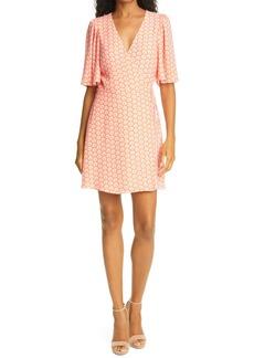 Alice + Olivia Sandra Angel Sleeve Wrap Dress