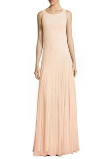 Alice + Olivia Saori Embellished Godet Gown