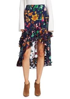 Alice + Olivia Sasha Floral-Print Skirt