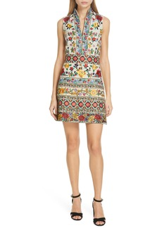 Alice + Olivia Savannah Embroidered Dress
