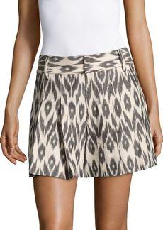 Alice + Olivia Scarlet Cotton Flutter Skirt