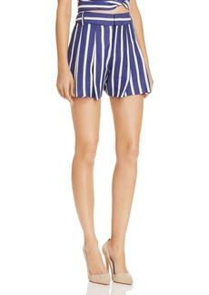 Alice + Olivia Scarlet Pleated Striped Shorts