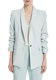 Alice + Olivia Sebastian Shawl-Collar One-Button Blazer