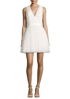 Alice + Olivia Shanda Embellished Party Dress