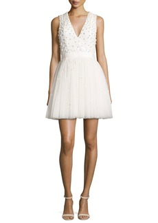 Alice + Olivia Shanda Embellished Party Dress
