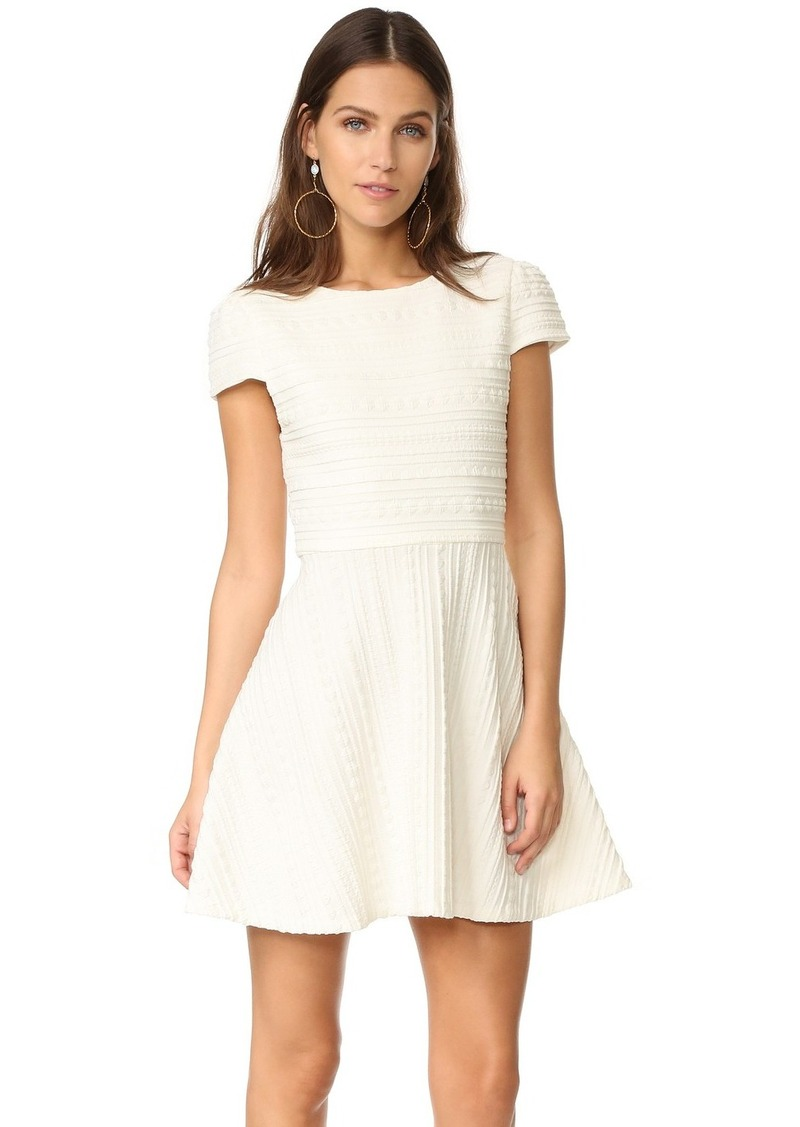 White Dress with Cap Sleeves
