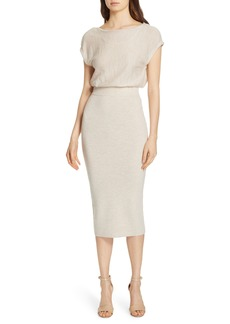 Alice + Olivia Shara Twist Back Blouson Dress