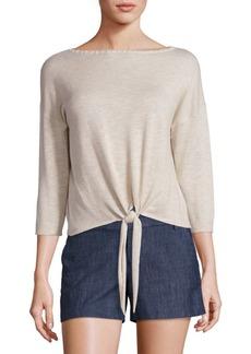 Alice + Olivia Shawnda Tie-Front Sweater
