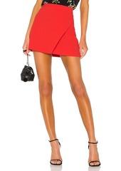 Alice + Olivia Shaylee Asymmetrical Drape Wrap Mini Skirt