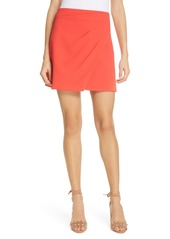 Alice + Olivia Shaylee Asymmetrical Drape Wrap Miniskirt