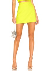 Alice + Olivia Shaylee Wrap Mini Skirt