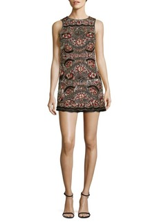 Alice + Olivia Sherley Embellished Shift Dress
