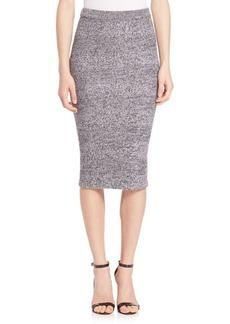 Alice + Olivia Sheryl Fitted Herringbone Skirt