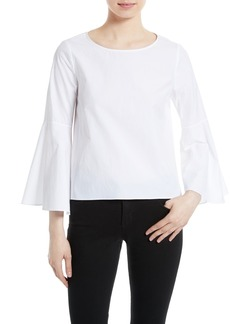 Alice + Olivia Shirley Bell Sleeve Top