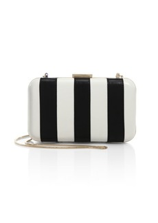 Alice + Olivia Shirley Striped Leather Convertible Clutch