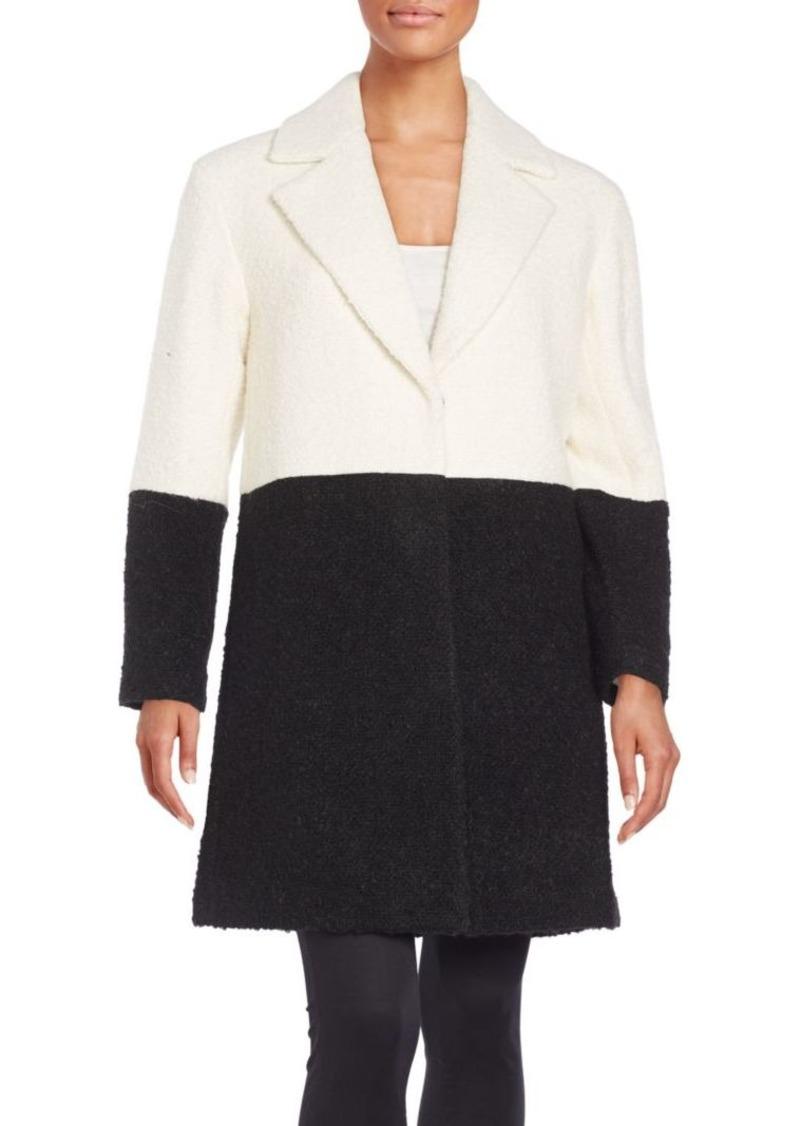 Alice + Olivia Shyla Two-Tone Wool Coat