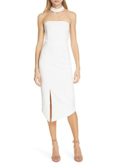 Alice + Olivia Sia Strapless Choker Collar Dress
