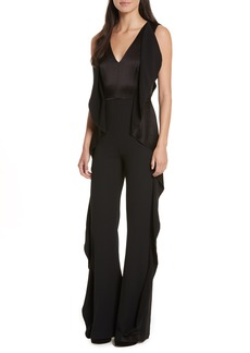 Alice + Olivia Side Ruffle Jumpsuit