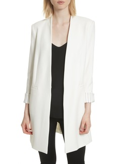 Alice + Olivia Simpson Roll Cuff Collarless Blazer