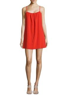 Alice + Olivia Sisi Solid Squareneck Dress