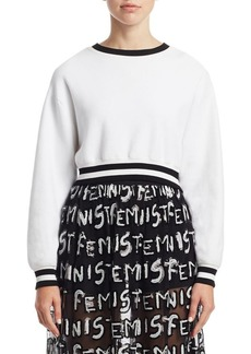Alice + Olivia Smith Cropped Pullover