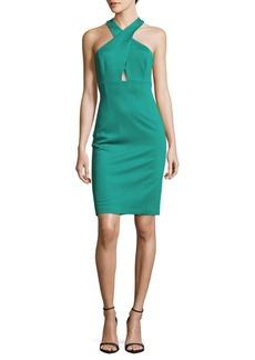 Alice + Olivia Solid T-Back Halter Dress