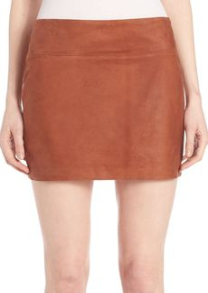 Alice + Olivia Sophya Suede Mini Skirt