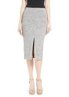 Alice + Olivia Spiga Front Slit Pencil Skirt