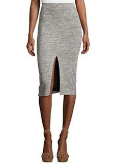 Alice + Olivia Spiga Slit-Front Knit Midi Pencil Skirt