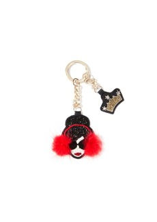 alice + olivia STACE FACE CRYSTAL KEY CHARM