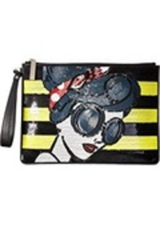 Alice + Olivia Stace Face Large Zip Pouch with Wristlet