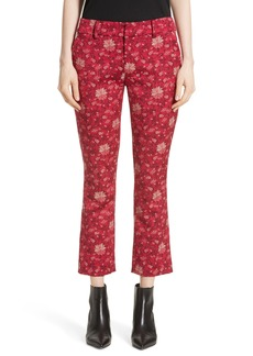 Alice + Olivia Stacey Crop Flare Print Pants