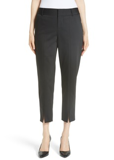 Alice + Olivia Stacey Front Slit Ankle Pants