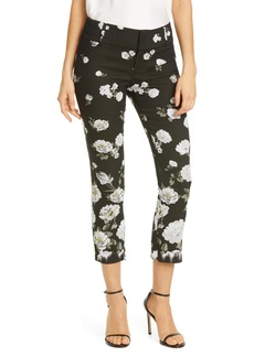 Alice + Olivia Stacey Slim Floral Print Ankle Pants