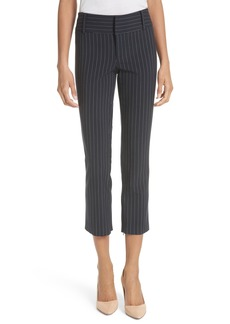 Alice + Olivia Stacey Slim Pinstripe Ankle Pants
