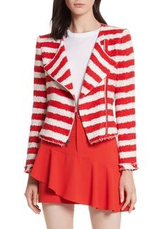 Alice + Olivia Stanton Stripe Tweed Jacket