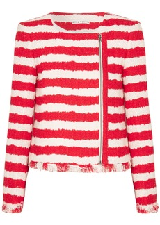 Alice + Olivia Stanton striped tweed jacket