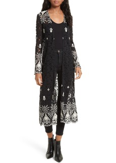 Alice + Olivia Stara Embroidered Lace Caftan