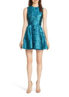 Alice + Olivia Stasia Paisley Fit & Flare Dress