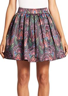 Alice + Olivia Stora Box Pleat Pouf Skirt