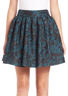 Alice + Olivia Stora Box-Pleated Skirt