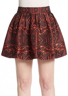 Alice + Olivia Stora Jacquard Full Skirt