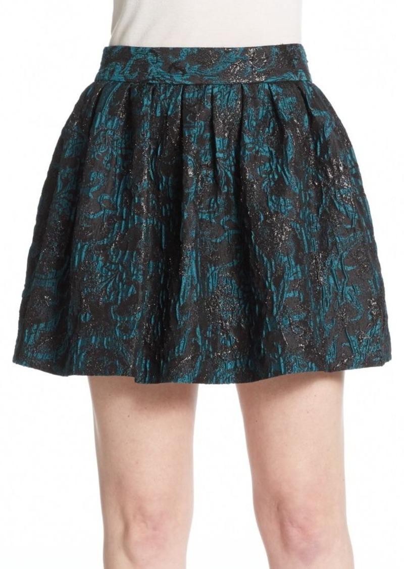 Alice + Olivia Stora Box-Pleated Skirt