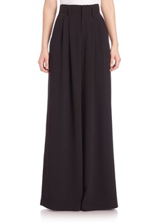 Alice + Olivia Straight Wide-Leg Trousers