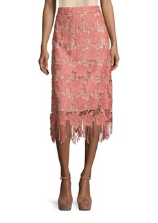 Alice + Olivia Strand Floral Pencil Skirt