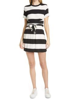 Alice + Olivia Stripe Tie Waist Minidress