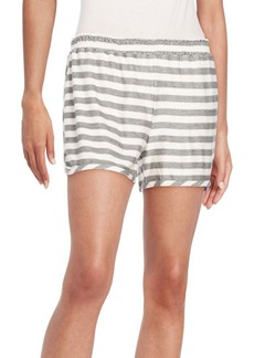 Alice + Olivia Striped Stretch Knit Shorts