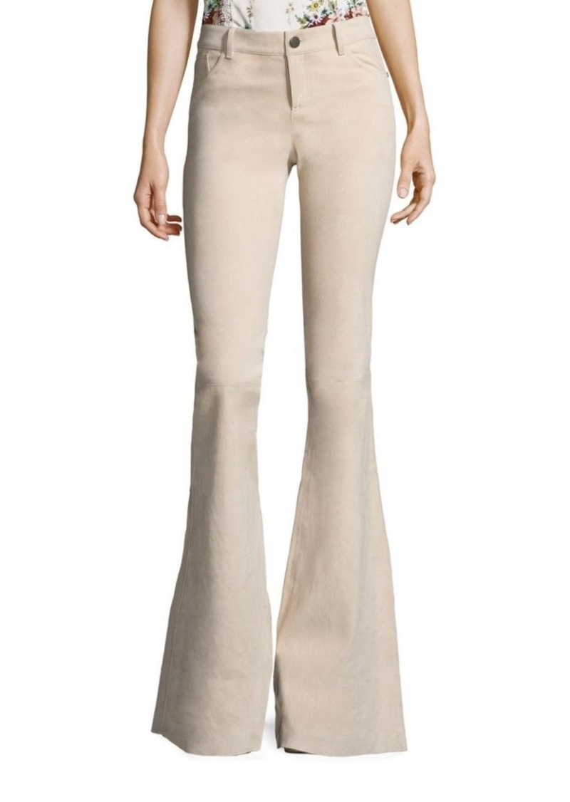 Alice + Olivia Suede Bell Flared Pants