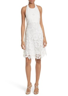 Alice + Olivia Susan Lace Halter Dress